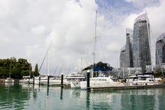 Boten bij jachthaven Royalty-vrije Stock Foto