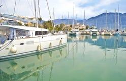 Boten bij Kalamata-haven de Peloponnesus Griekenland Royalty-vrije Stock Fotografie