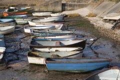 Boten bij Leigh-op-Overzees, Essex, Engeland Stock Fotografie