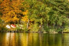 Boten bij rivier Royalty-vrije Stock Afbeeldingen