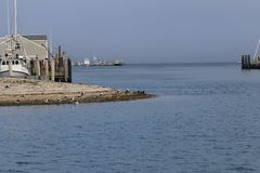 Boten in de haven Royalty-vrije Stock Afbeeldingen