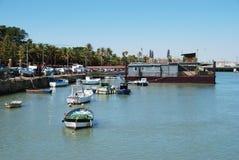Boten in de haven, Gr Puerto DE Santa Maria royalty-vrije stock afbeeldingen