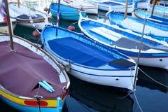 Boten in de haven van Nice worden vastgelegd dat Stock Afbeelding