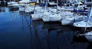 Boten in de haven van Vigo royalty-vrije stock fotografie
