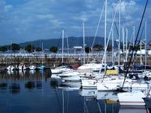 Boten in de haven van Vigo royalty-vrije stock foto's