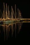 boten in een dok Royalty-vrije Stock Afbeeldingen