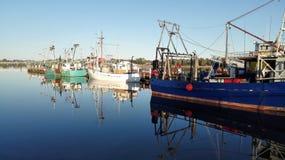 Boten in haven Royalty-vrije Stock Afbeelding