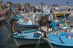 Boten in haven agia-Napa Stock Fotografie