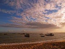 Boten in het strand Royalty-vrije Stock Afbeelding