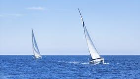 Boten in het varen regatta competition Royalty-vrije Stock Afbeelding
