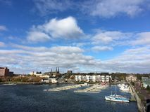 Boten in Jachthaven Prins Edward Island charlottetown stock foto's