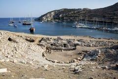 Boten in Knidos, Mugla, Turkije Royalty-vrije Stock Afbeelding