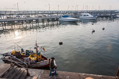 Boten Marina Punta del Este Uruguay Stock Foto