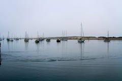 Boten in Morro-Baai Stock Afbeelding
