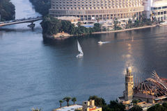 Boten in Nijl van Kaïro Stock Fotografie