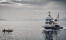 Boten op Bosphorus Stock Foto