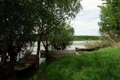 Boten op de Donau Stock Afbeeldingen