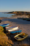 Boten op de kust Royalty-vrije Stock Afbeeldingen