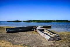 Boten op de kust Royalty-vrije Stock Afbeelding