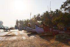 Boten op de kust van Goa Royalty-vrije Stock Afbeelding