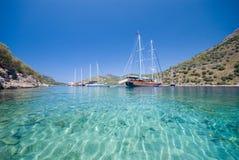 Boten op de Middellandse Zee Royalty-vrije Stock Fotografie