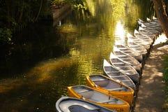 Boten op de rivier Stock Foto