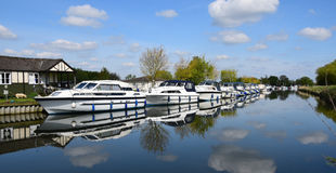 Boten op de rivier Royalty-vrije Stock Foto's