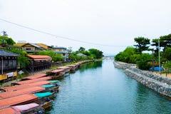 Boten op een rivier Stock Foto's