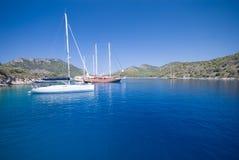 Boten op het Middellandse-Zeegebied royalty-vrije stock foto's