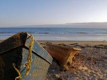 Boten op het Strand Royalty-vrije Stock Foto's