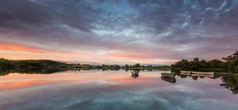 Boten op Loch Rusky Stock Afbeelding
