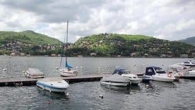 Boten op Meer Como, Italië stock footage