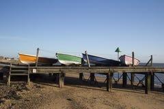 Boten op Southend Strand, Essex, Engeland Stock Fotografie