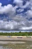 Boten op Strand Stock Afbeelding