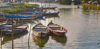 Boten van Hoi An-rivier Royalty-vrije Stock Afbeelding