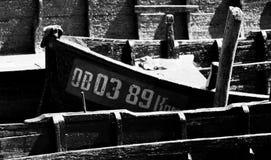 Boten in Vylkove (Ð'иГ кР¾ Ð ² е; Ð'иГ кР¾ Ð ² Ð ¾; Vâlcov) Stock Foto's