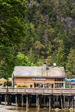 Botenhuis in Hoefijzerbaai in West-Vancouver Stock Afbeeldingen