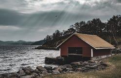 Botenhuis, Stavanger, Noorwegen royalty-vrije stock afbeelding