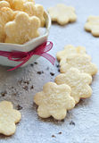 Boter koekjes met de saus van de chocoladezachte toffee Royalty-vrije Stock Afbeeldingen