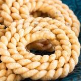 Boterchakli met kruidige beroemde Zuiden Indische Traditionele Snack o stock afbeelding