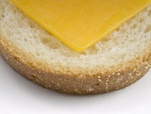 Boterham met kaas hoogste mening Royalty-vrije Stock Afbeelding