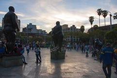 Botero广场在麦德林,哥伦比亚 免版税图库摄影