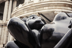 Botero雕象 墨西哥 免版税库存照片