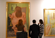 Botero Exhibit. In Bogota, Colombia Royalty Free Stock Image