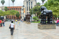 Botero Plaza Stock Photography