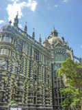 Botero Square in Medellin Colombia. MEDELLIN, COLOMBIA, DECEMBER - 2014 - Low angle view of beautiful ornate palace at Botero square in Medellin, one of the most royalty free stock photography
