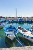 Botes ancorados em Sicília, Itália Imagens de Stock Royalty Free