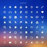 Botões da Web do Internet dos ícones do negócio ajustados Fotos de Stock