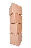 Boîtes de carton Image libre de droits