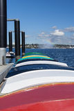 Botes de remos coloridos Foto de archivo libre de regalías